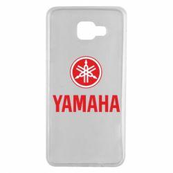Чехол для Samsung A7 2016 Yamaha Logo(R+W)