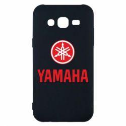 Чехол для Samsung J5 2015 Yamaha Logo(R+W)