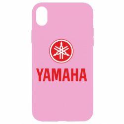 Чехол для iPhone XR Yamaha Logo(R+W)