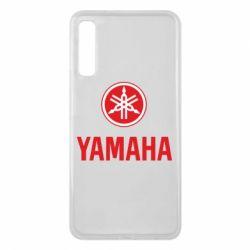 Чехол для Samsung A7 2018 Yamaha Logo(R+W)