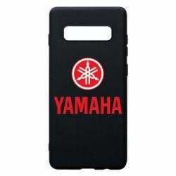 Чехол для Samsung S10+ Yamaha Logo(R+W)