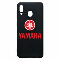 Чехол для Samsung A20 Yamaha Logo(R+W)