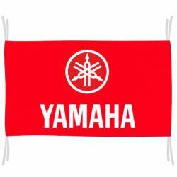 Флаг Yamaha Logo(R+W)