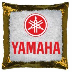 Подушка-хамелеон Yamaha Logo(R+W)