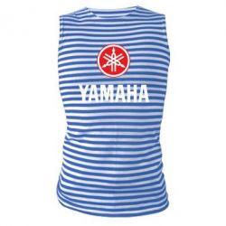 Майка-тельняшка Yamaha Logo(R+W)