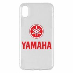 Чехол для iPhone X/Xs Yamaha Logo(R+W)