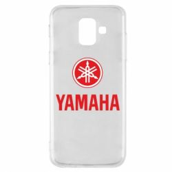 Чехол для Samsung A6 2018 Yamaha Logo(R+W)