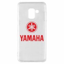 Чехол для Samsung A8 2018 Yamaha Logo(R+W)