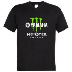 Мужская футболка  с V-образным вырезом Yamaha Monster Energy - FatLine