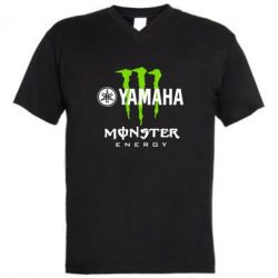 Мужская футболка  с V-образным вырезом Yamaha Monster Energy