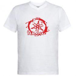 Мужская футболка  с V-образным вырезом Yamaha Moto - FatLine
