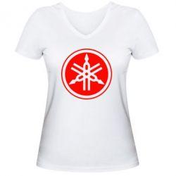 Женская футболка с V-образным вырезом Yamaha - FatLine
