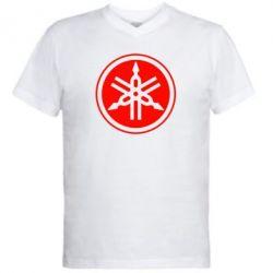 Мужская футболка  с V-образным вырезом Yamaha - FatLine