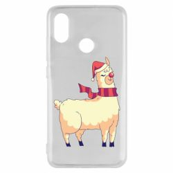 Чехол для Xiaomi Mi8 Yellow llama in a scarf and red nose