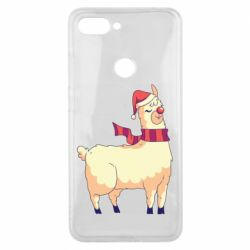 Чехол для Xiaomi Mi8 Lite Yellow llama in a scarf and red nose
