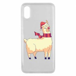 Чехол для Xiaomi Mi8 Pro Yellow llama in a scarf and red nose