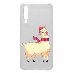 Чехол для Xiaomi Mi9 Yellow llama in a scarf and red nose