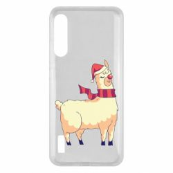 Чохол для Xiaomi Mi A3 Yellow llama in a scarf and red nose
