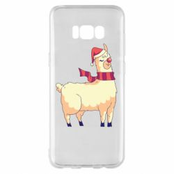 Чехол для Samsung S8+ Yellow llama in a scarf and red nose