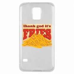 Чехол для Samsung S5 Yellow Potato Fries