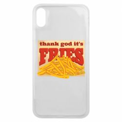 Чехол для iPhone Xs Max Yellow Potato Fries