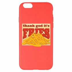 Чехол для iPhone 6 Plus/6S Plus Yellow Potato Fries