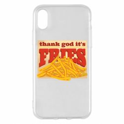 Чехол для iPhone X/Xs Yellow Potato Fries