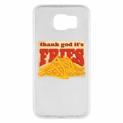 Чехол для Samsung S6 Yellow Potato Fries