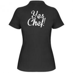 Женская футболка поло Yes, Chef!