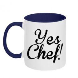 Кружка двухцветная Yes, Chef!
