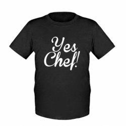 Детская футболка Yes, Chef!