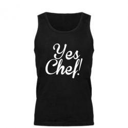 Мужская майка Yes, Chef!
