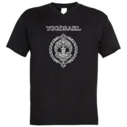 Мужская футболка  с V-образным вырезом Yggdrasil