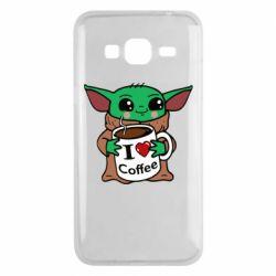 Чехол для Samsung J3 2016 Yoda and a mug with the inscription I love coffee