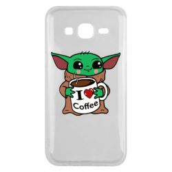 Чехол для Samsung J5 2015 Yoda and a mug with the inscription I love coffee