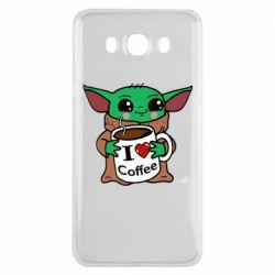 Чехол для Samsung J7 2016 Yoda and a mug with the inscription I love coffee