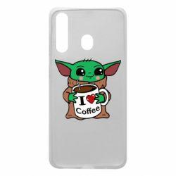 Чехол для Samsung A60 Yoda and a mug with the inscription I love coffee