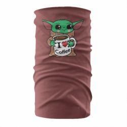 Бандана-труба Yoda and a mug with the inscription I love coffee