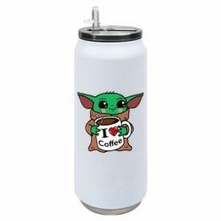 Термобанка 500ml Yoda and a mug with the inscription I love coffee