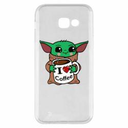 Чехол для Samsung A5 2017 Yoda and a mug with the inscription I love coffee