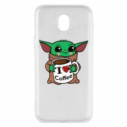Чехол для Samsung J5 2017 Yoda and a mug with the inscription I love coffee