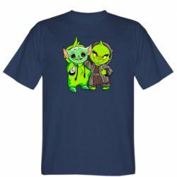 Мужская футболка Yoda and Grinch