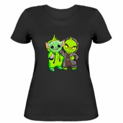 Женская футболка Yoda and Grinch