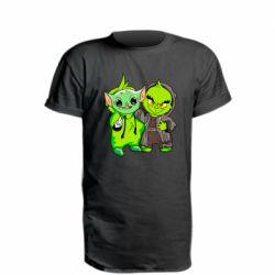 Удлиненная футболка Yoda and Grinch