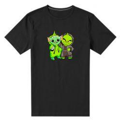 Мужская стрейчевая футболка Yoda and Grinch