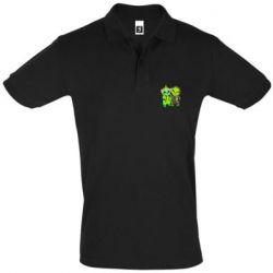 Мужская футболка поло Yoda and Grinch