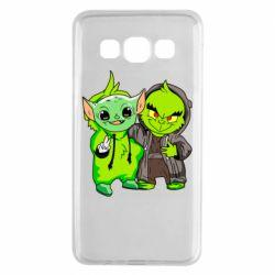 Чехол для Samsung A3 2015 Yoda and Grinch