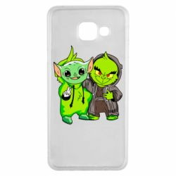 Чехол для Samsung A3 2016 Yoda and Grinch