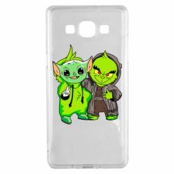 Чехол для Samsung A5 2015 Yoda and Grinch