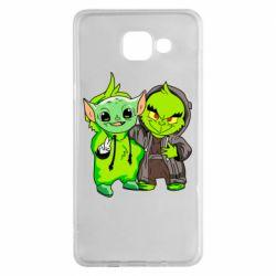 Чехол для Samsung A5 2016 Yoda and Grinch